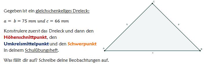 besondere punkte und linien im dreieck