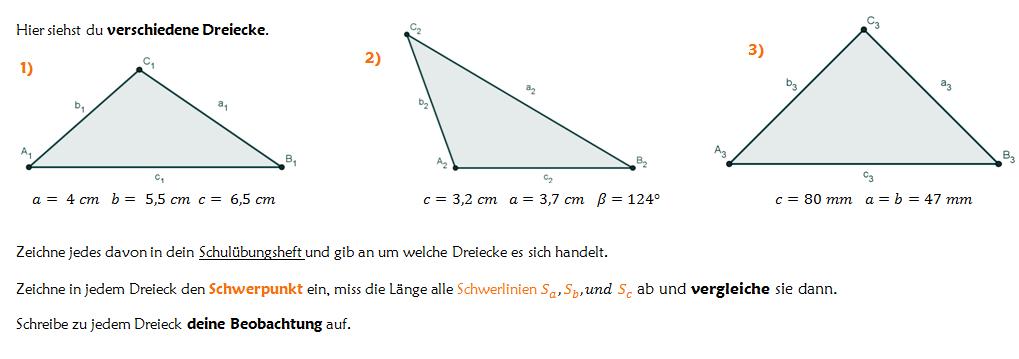 Besondere Punkte des Dreiecks - Lernpfad